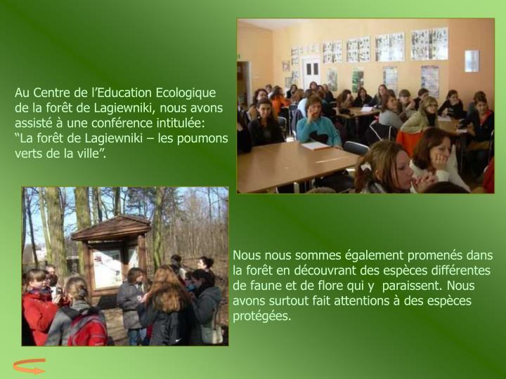 Au Centre de l'Education Ecologique