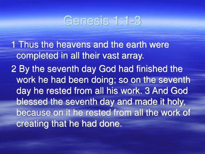 Genesis 1:1-3