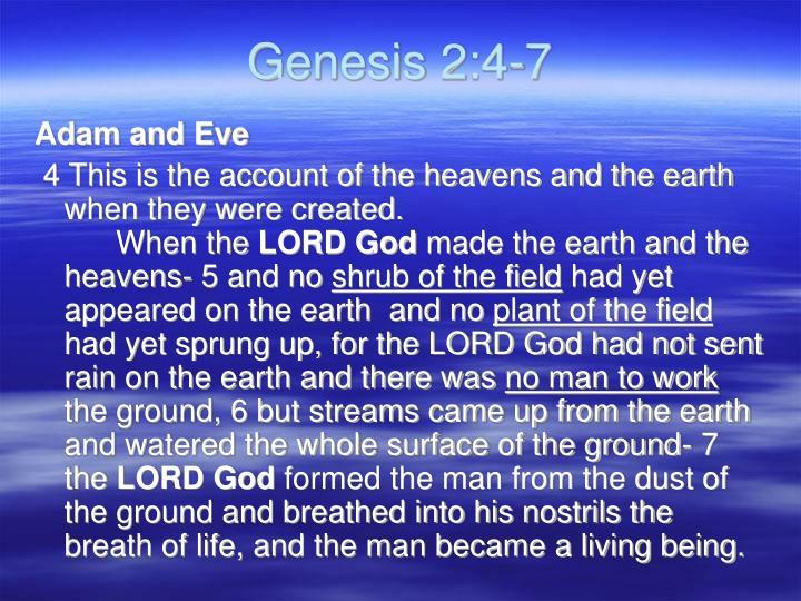 Genesis 2:4-7