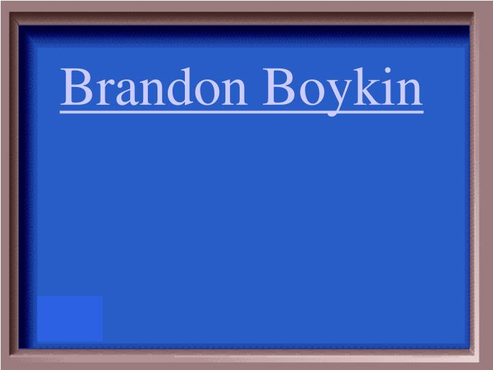 Brandon Boykin