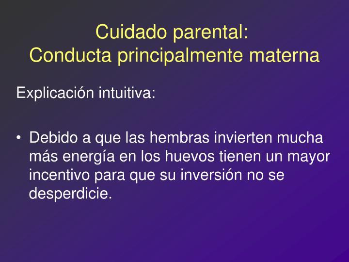 Cuidado parental: