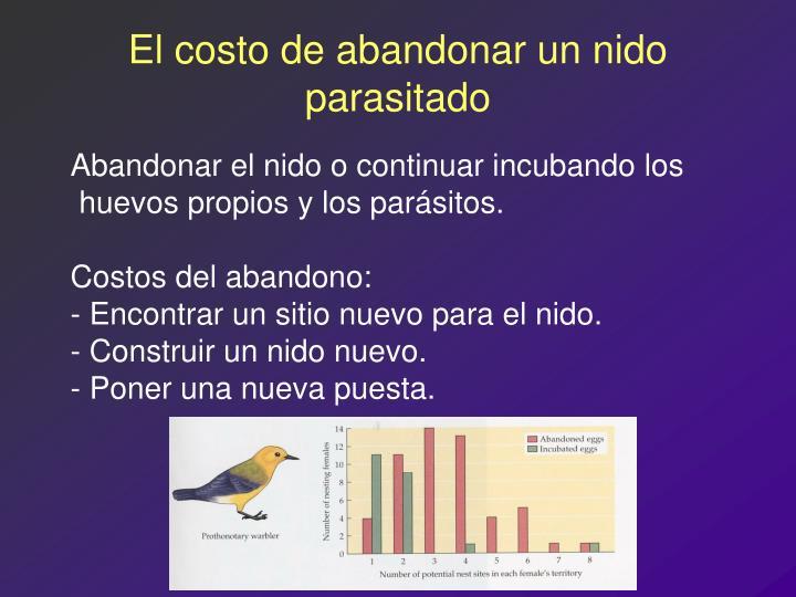 El costo de abandonar un nido parasitado