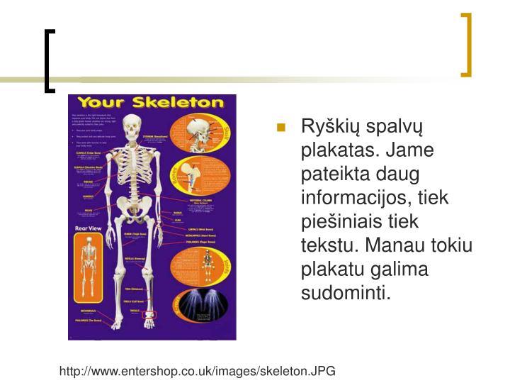 Ryki spalv plakatas. Jame pateikta daug informacijos, tiek pieiniais tiek tekstu. Manau tokiu plakatu galima sudominti.