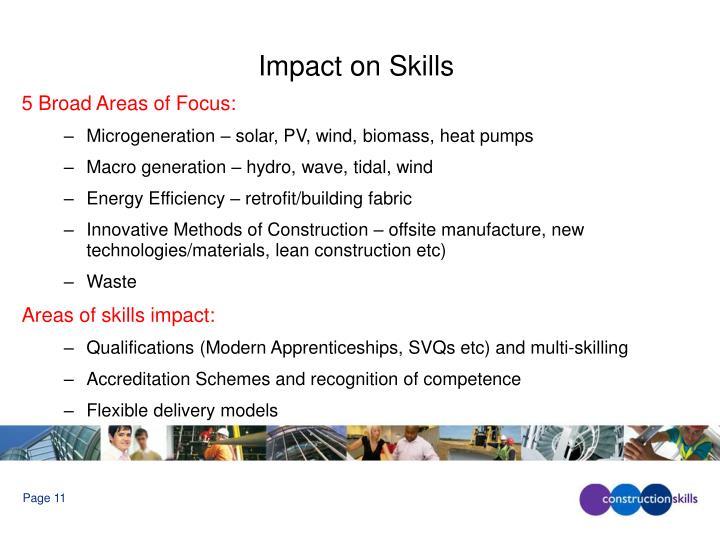 Impact on Skills