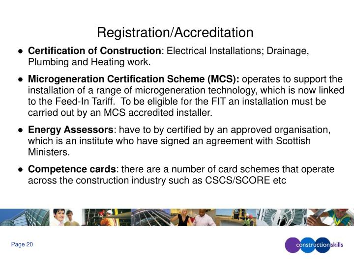 Registration/Accreditation