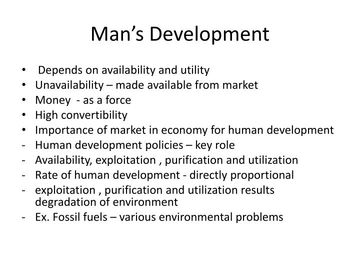 Man's Development