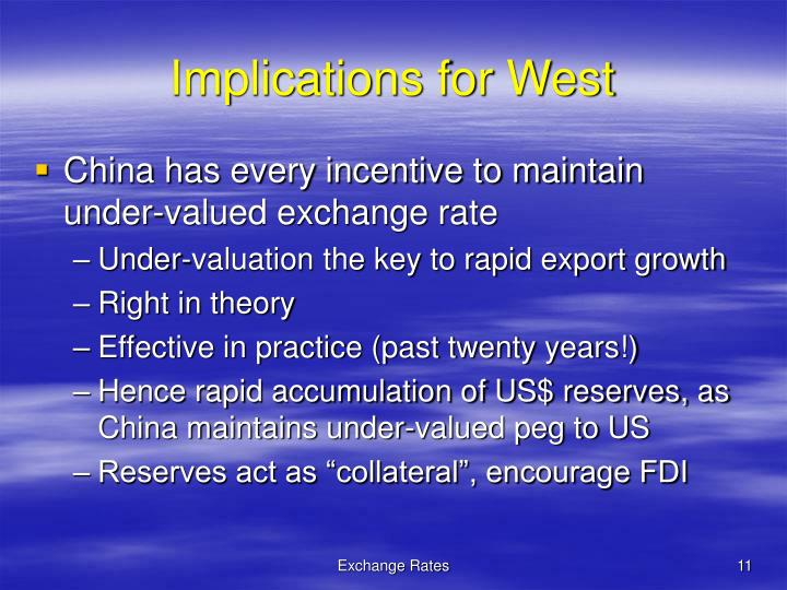 Implications for West