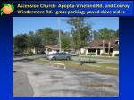 ascension church apopka vineland rd and conroy windermere rd grass parking paved drive aisles