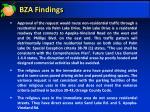 bza findings
