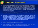 conditions if approved