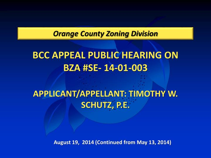 Orange county zoning division