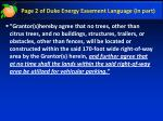 page 2 of duke energy easement language in part