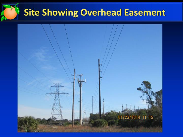 Site Showing Overhead Easement
