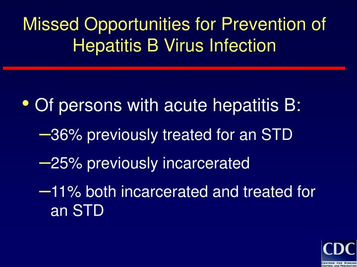 Missed Opportunities for Prevention of