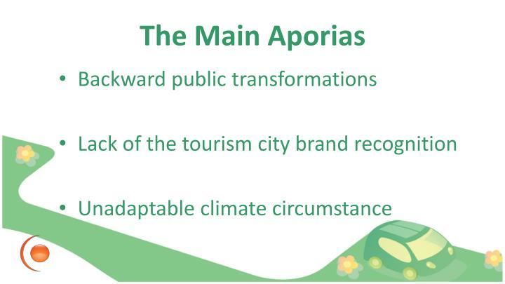 The Main Aporias