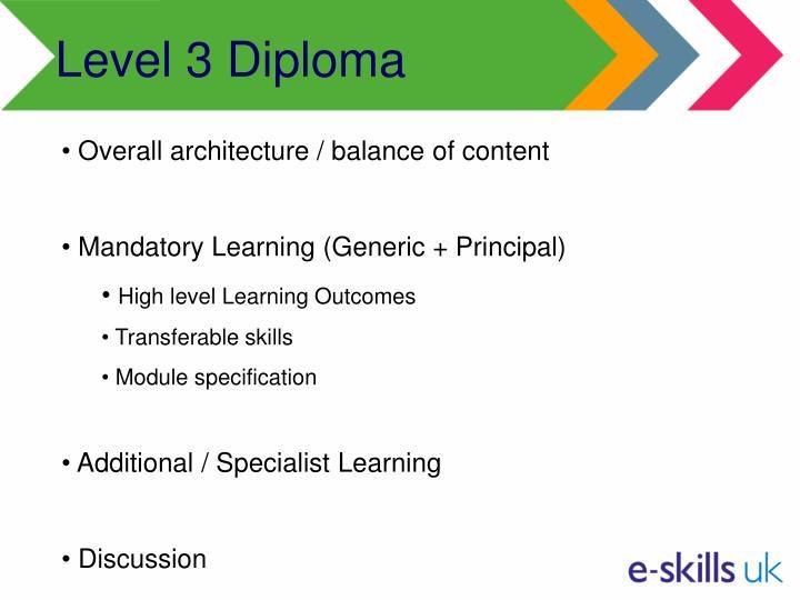 Level 3 Diploma