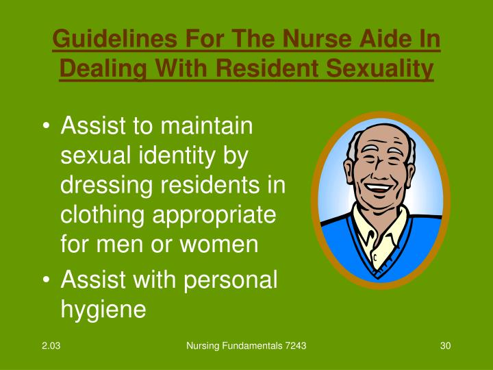 Guidelines For The Nurse Aide In Dealing With Resident Sexuality