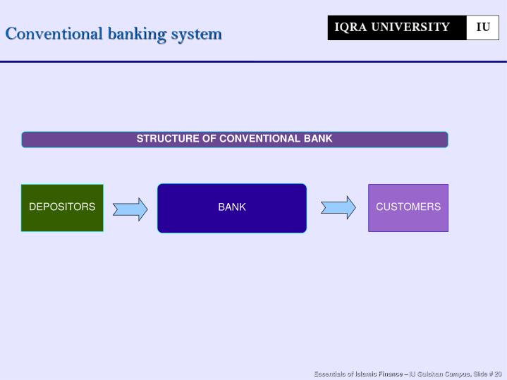 Conventional banking system
