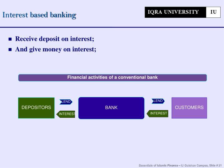 Interest based banking