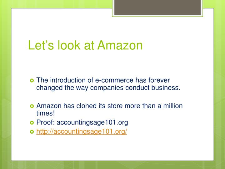 Let's look at Amazon