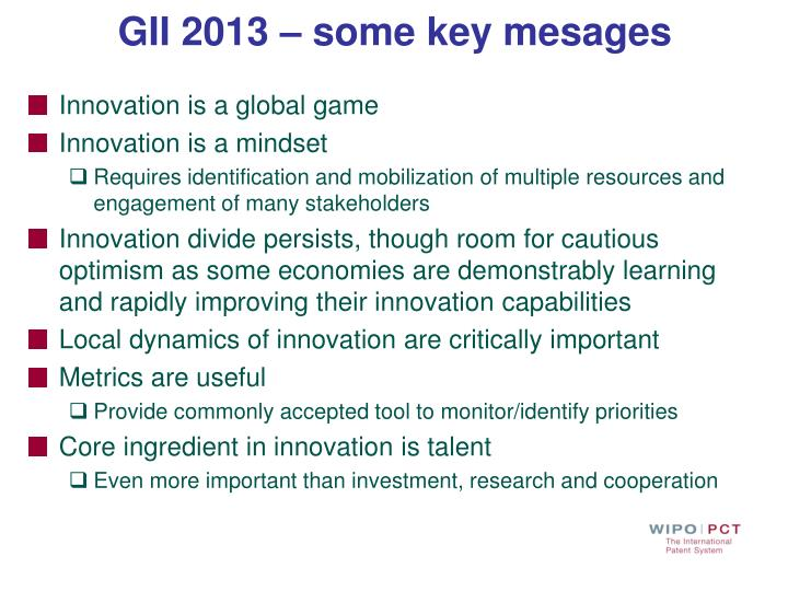 GII 2013 – some key mesages