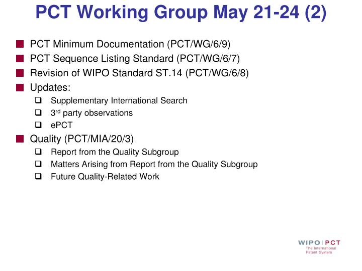 PCT Working Group May 21-24 (2)