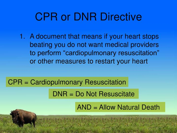 CPR or DNR Directive