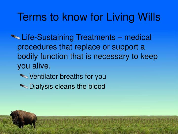 Terms to know for Living Wills