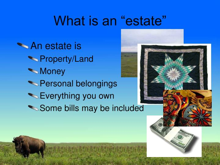 "What is an ""estate"""