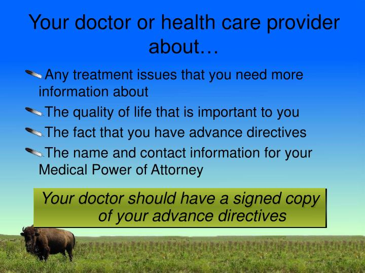 Your doctor or health care provider about…
