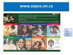 www oapce on ca