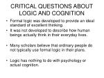 critical questions about logic and cognition