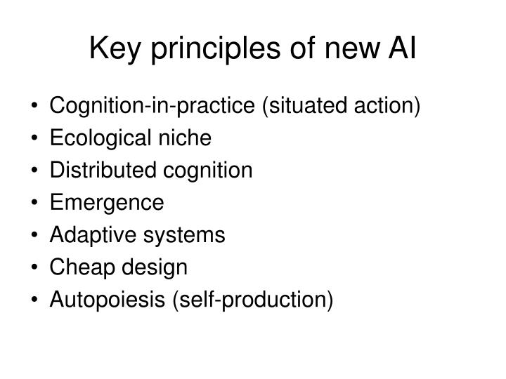 Key principles of new AI
