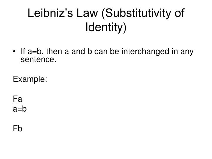 Leibniz's Law (Substitutivity of Identity)