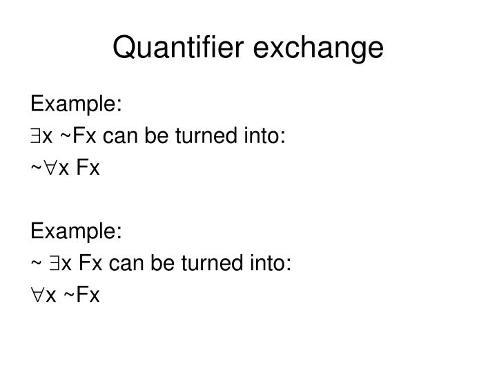Quantifier exchange