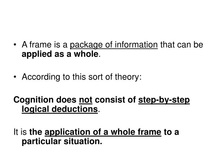 A frame is a