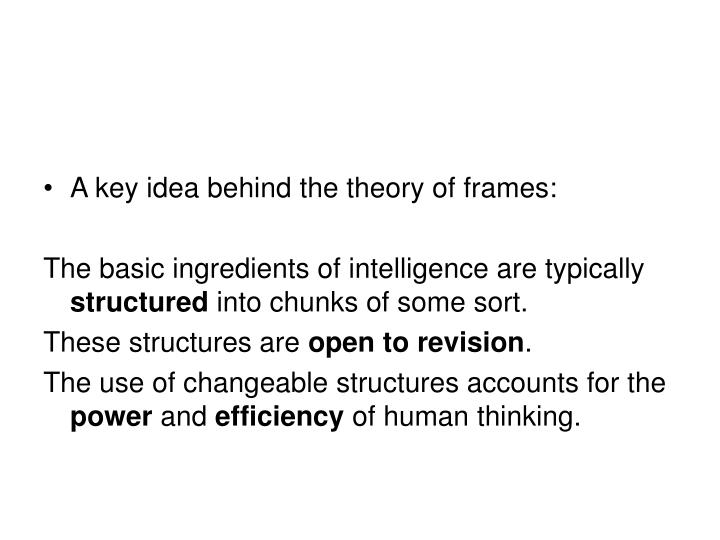 A key idea behind the theory of frames: