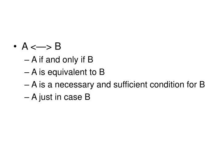 A <—> B