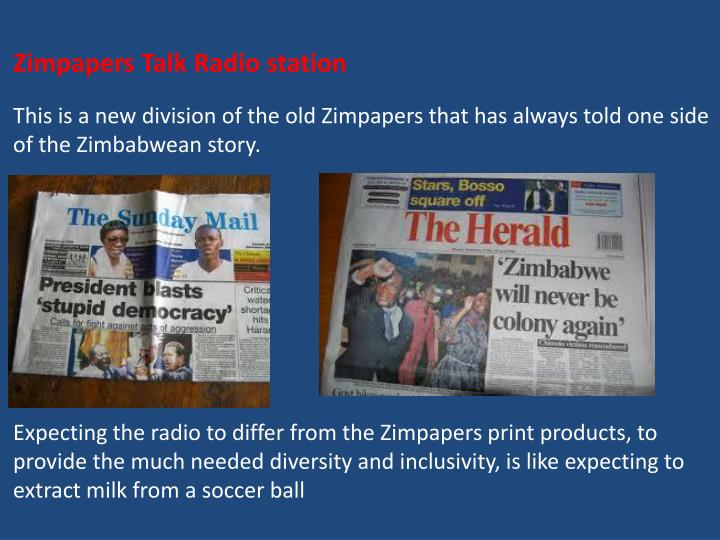 Zimpapers Talk Radio station