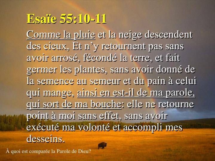 Esaïe 55:10-11