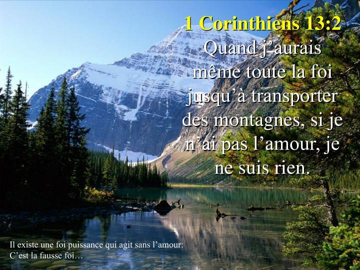 1 Corinthiens 13:2