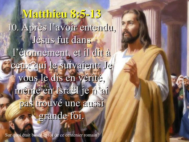 Matthieu 8:5-13