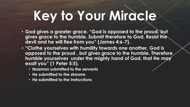 Key to Your Miracle