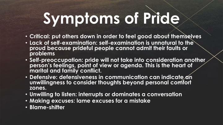 Symptoms of Pride