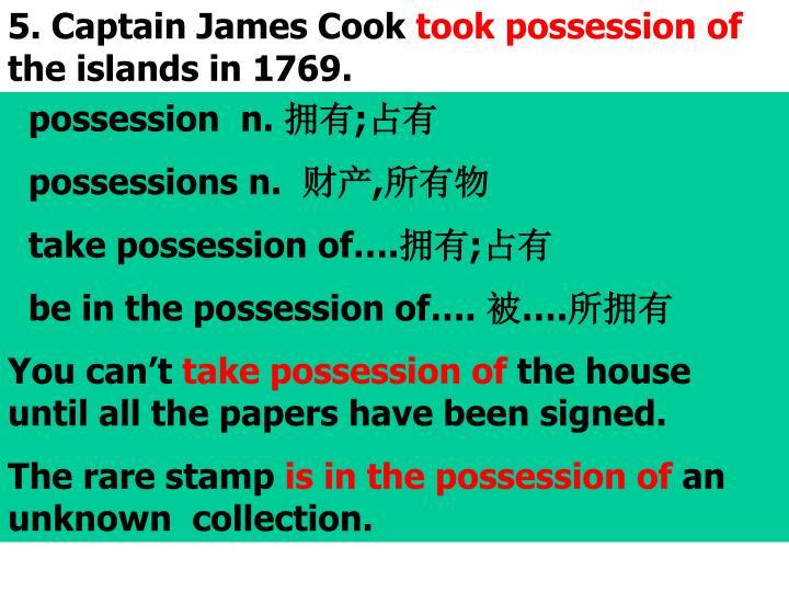 5. Captain James Cook