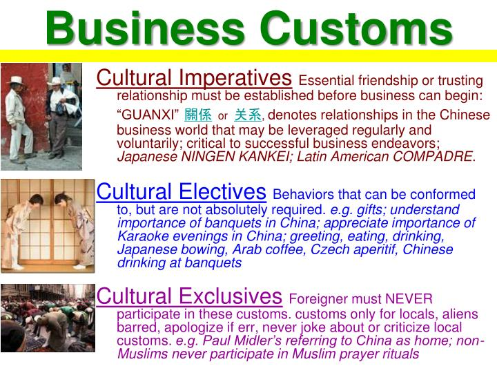 Business Customs