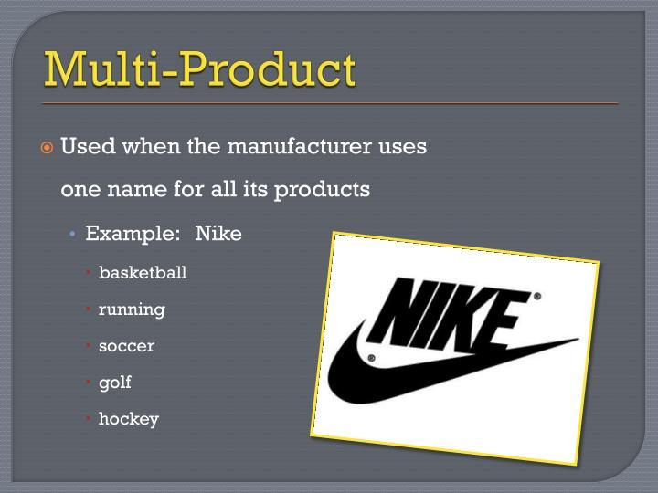 Multi-Product