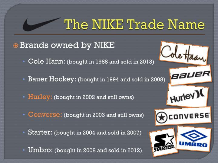 The NIKE Trade Name
