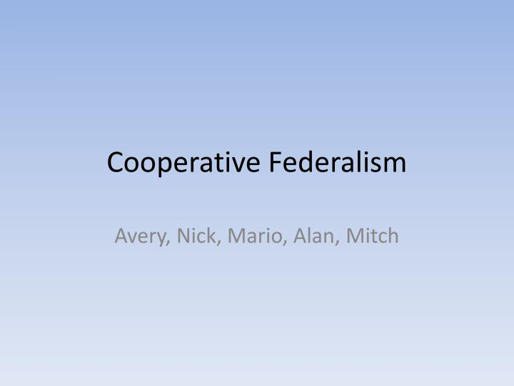 the new deal and american federalism essay