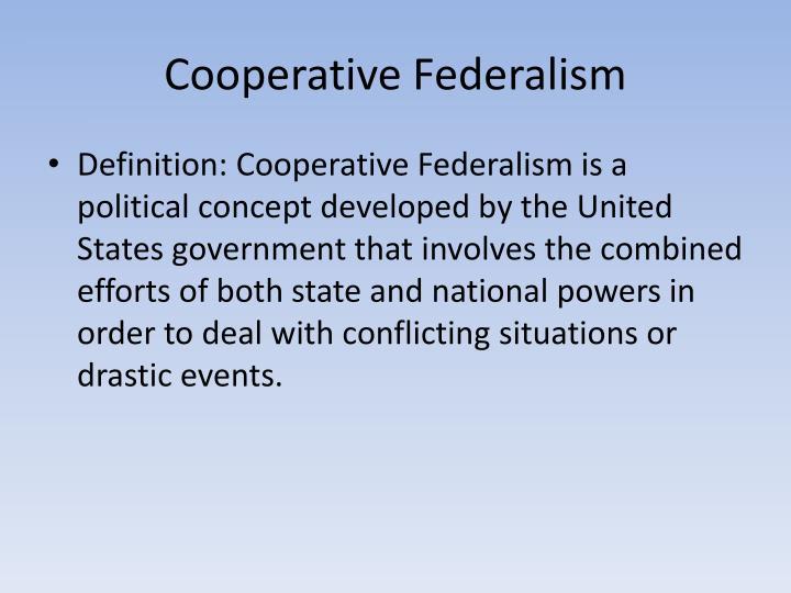 Cooperative Federalism